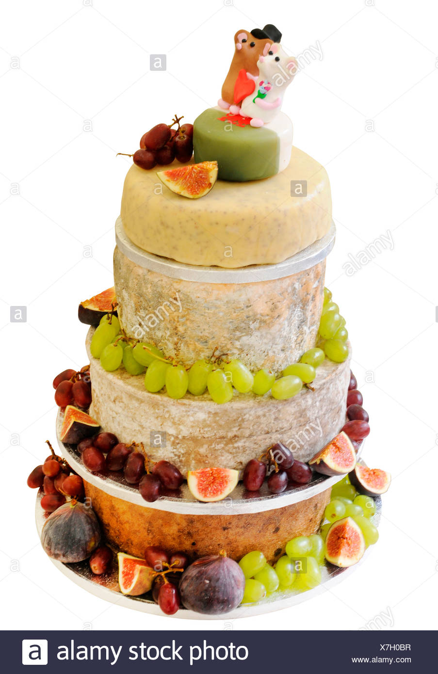CUT OUT OF CHEESE CELEBRATION WEDDING CAKE Stock Photo: 280041995 ...
