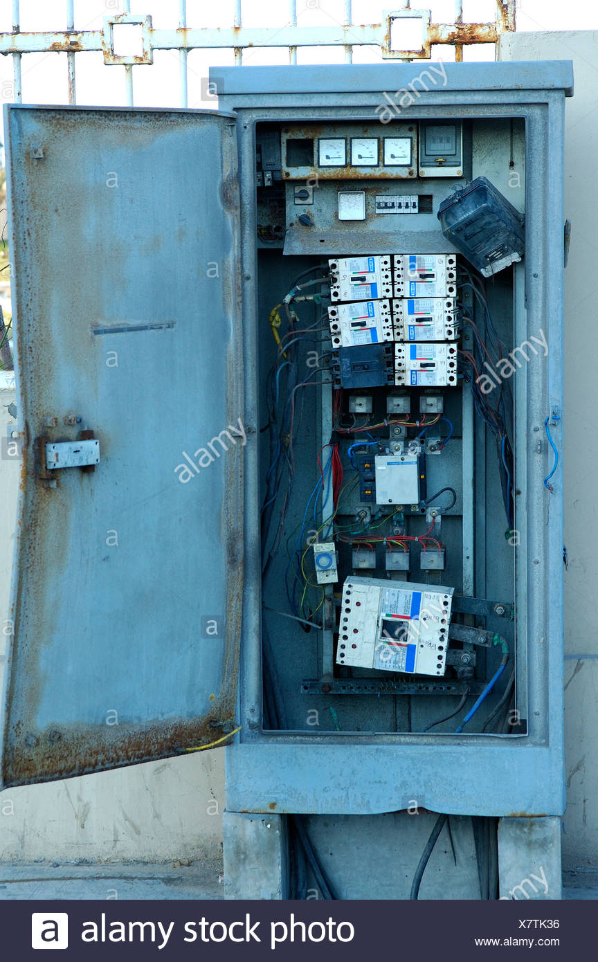 Electrical switching unit in poor condition Stock Photo: 280210314 ...