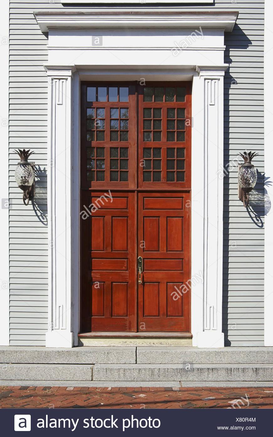 Incroyable Front Door And Doorway Of Home, Sandwich, Cape Cod, Massachusetts, New  England, USA