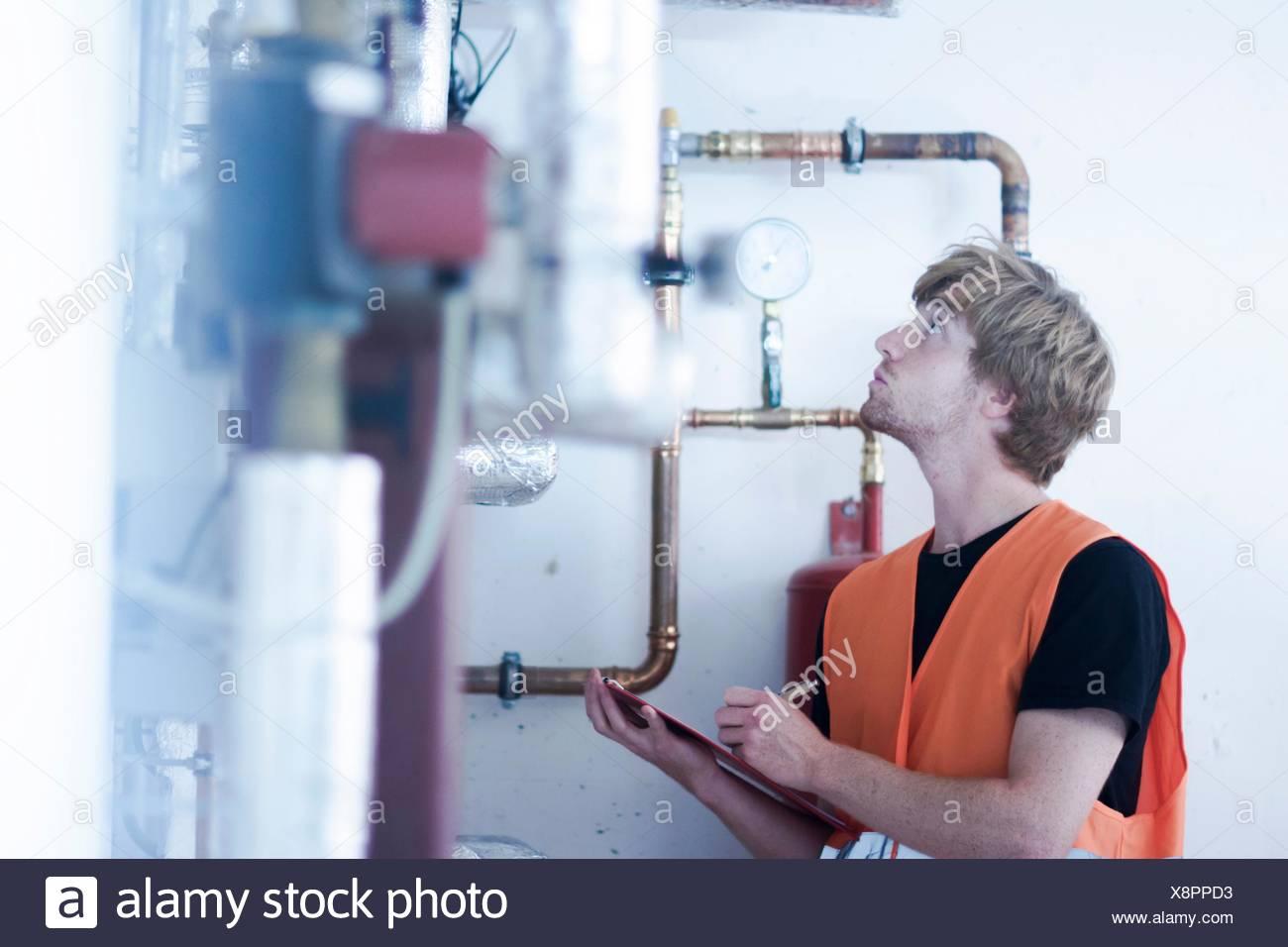 Man Power Boiler Room