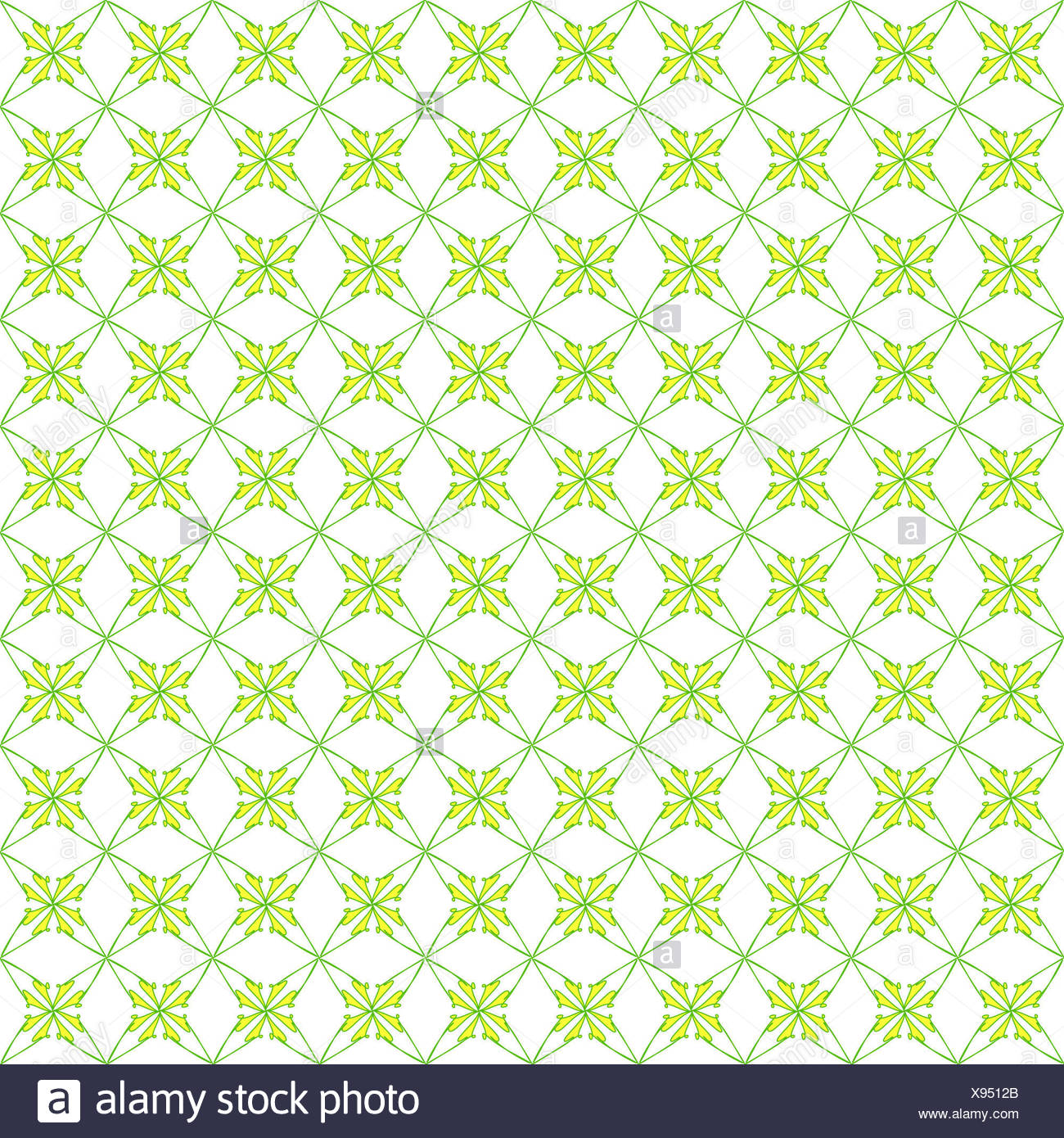 Pattern Background Wallpaper Flower Yellow Green White Repetition Art