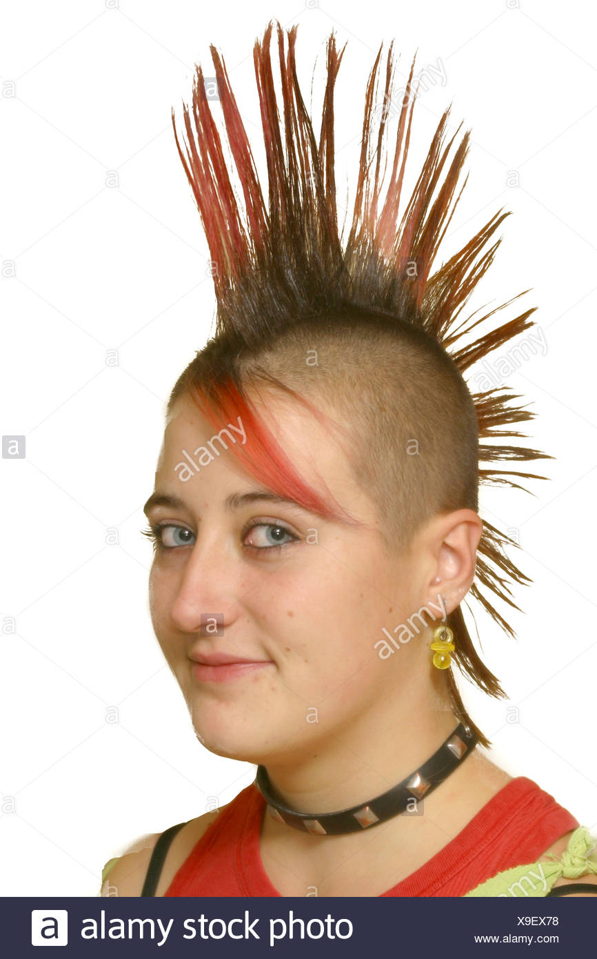 Young Punk With Mohawk Haircut Stock Photo 281225708 Alamy