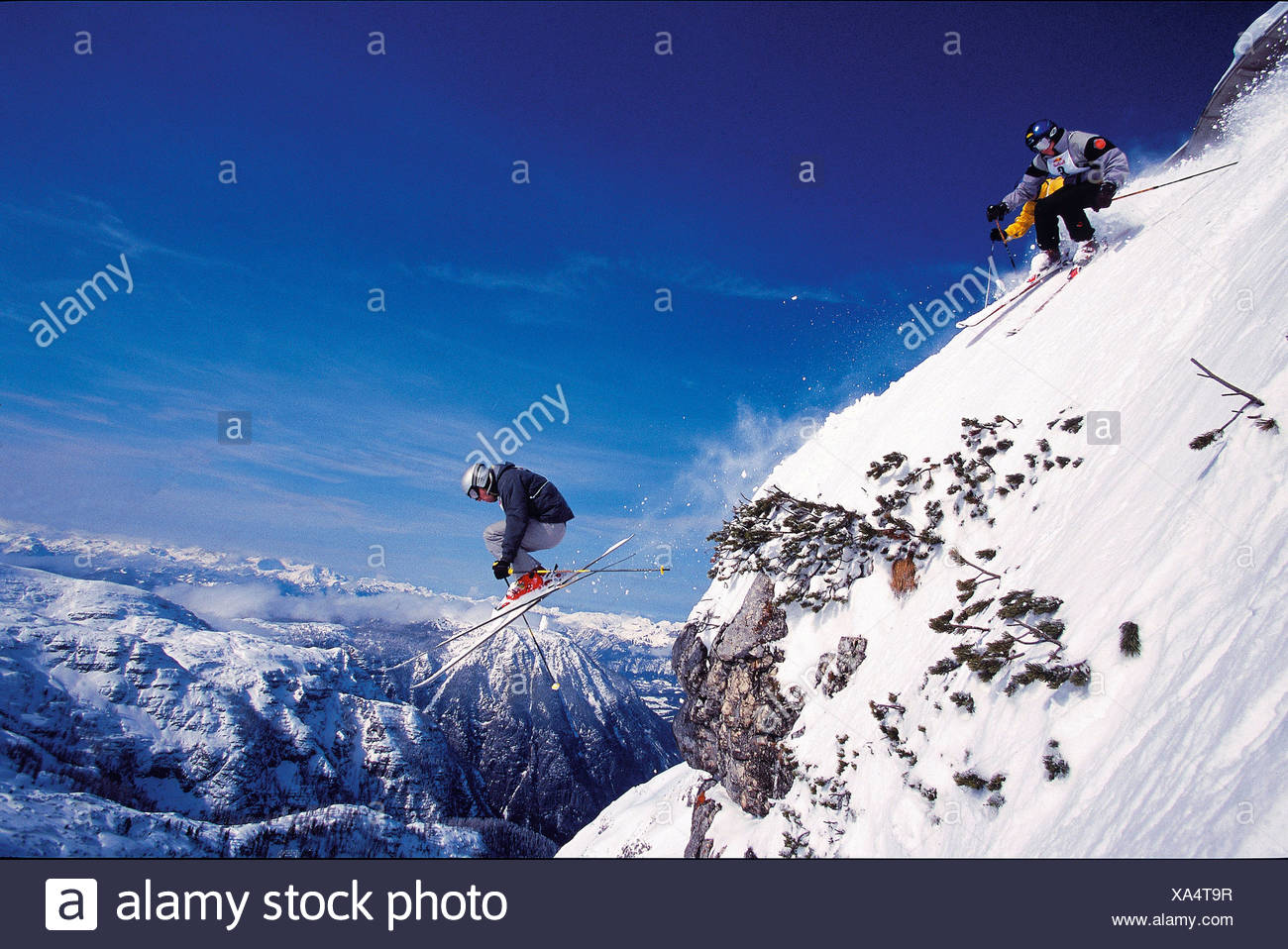 action alps mountains cliff edge cliff projection freeride