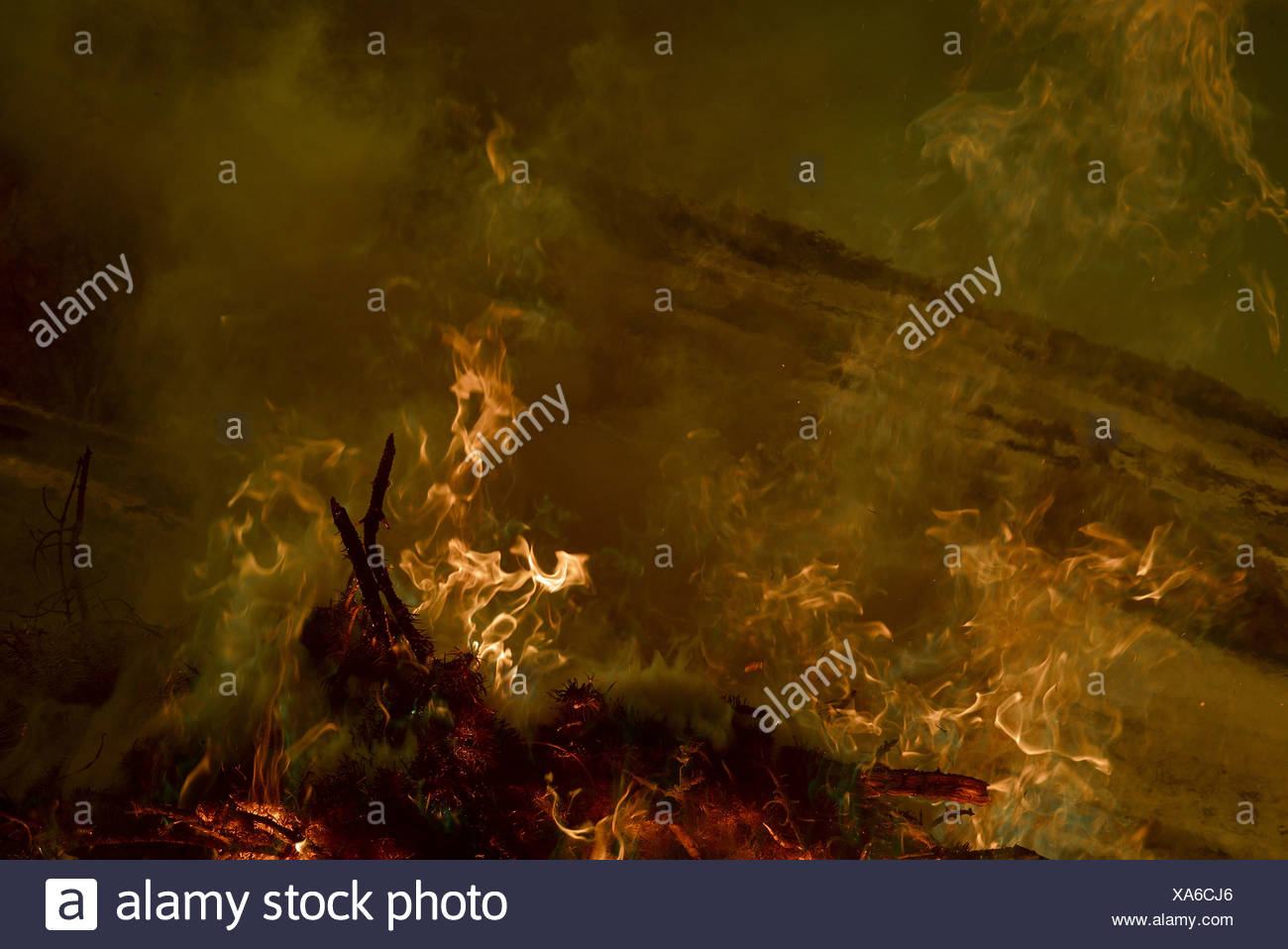 campfire fire flames surreal concepts art smoke infrared