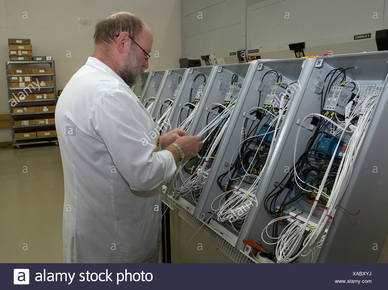 Berlin, Germany, an official wired Schaltschraenke Stock Photo ...