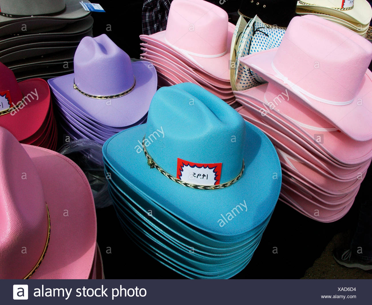 Colored cowboy hats for kids and especially for young girls Stock ... ed5cdf967ff