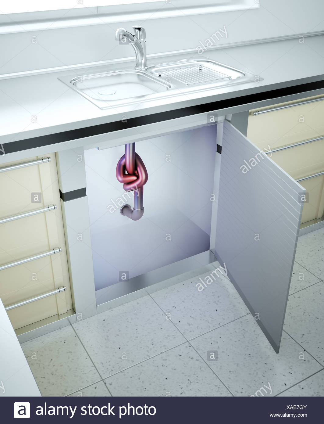 Clogged sink Stock Photo: 281825739 - Alamy