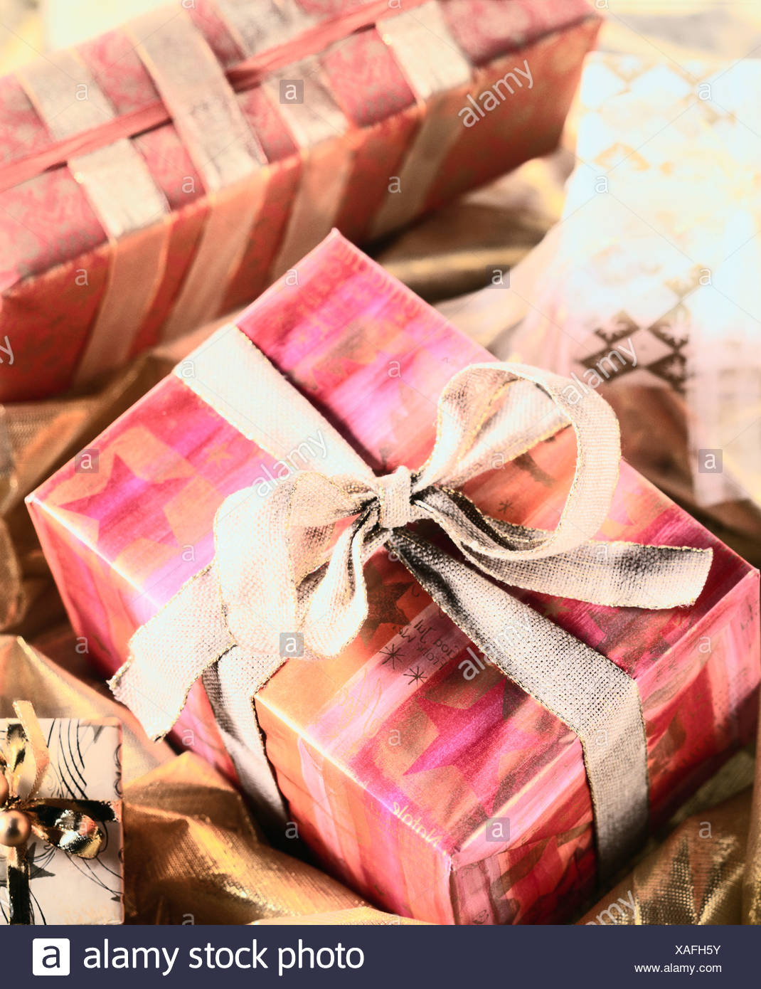 Wrapped gifts Stock Photo: 281855223 - Alamy