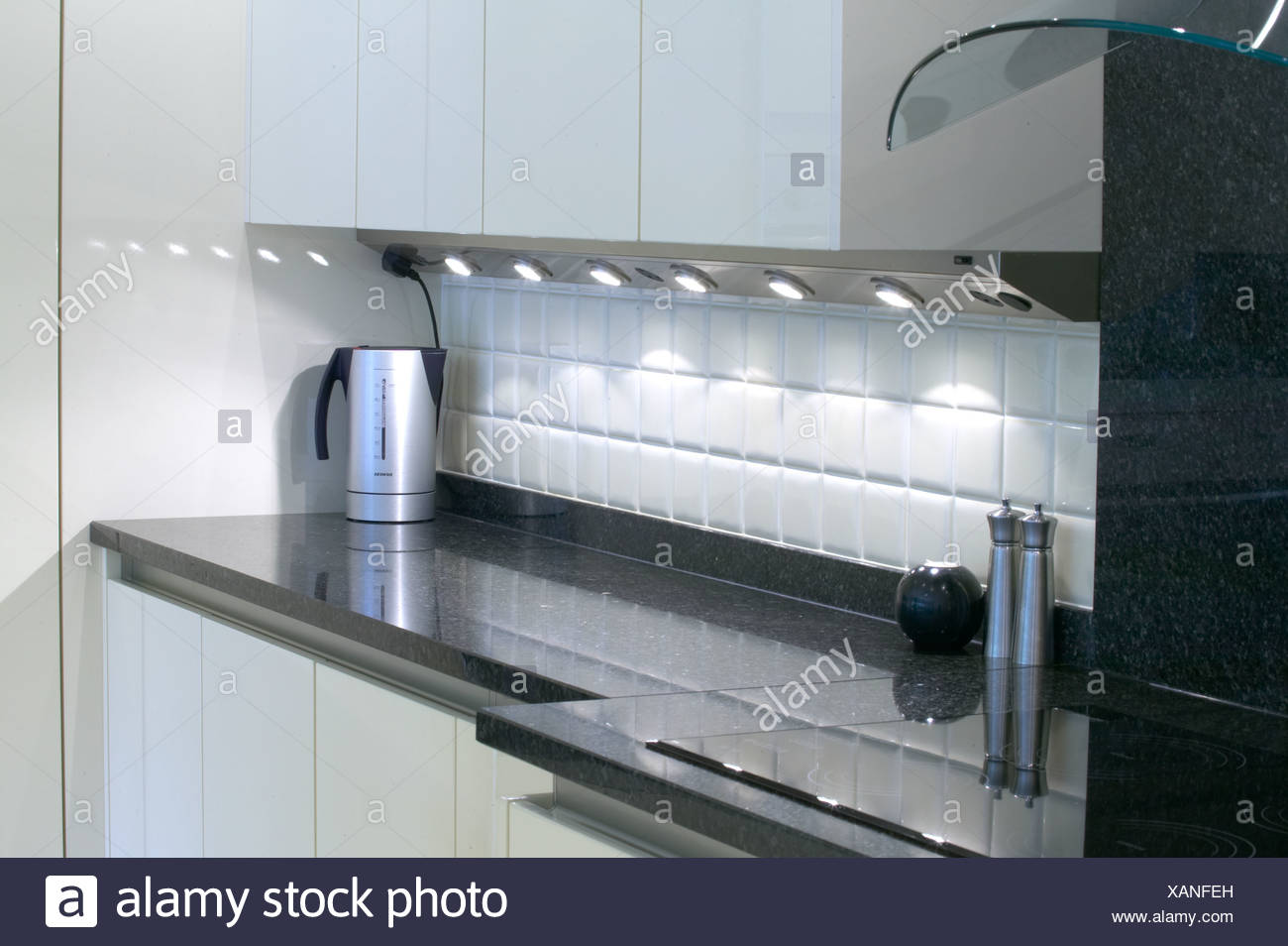 Modern kitchen in new house with expensive appliances Stock Photo ...