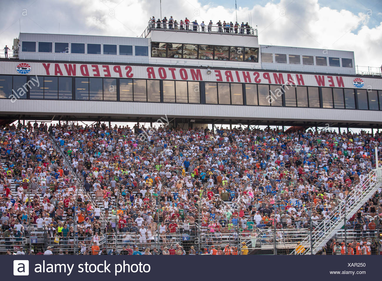 View Of The Crowd At New Hampshire Motor Speedway Nascar 301 Sprint Cup