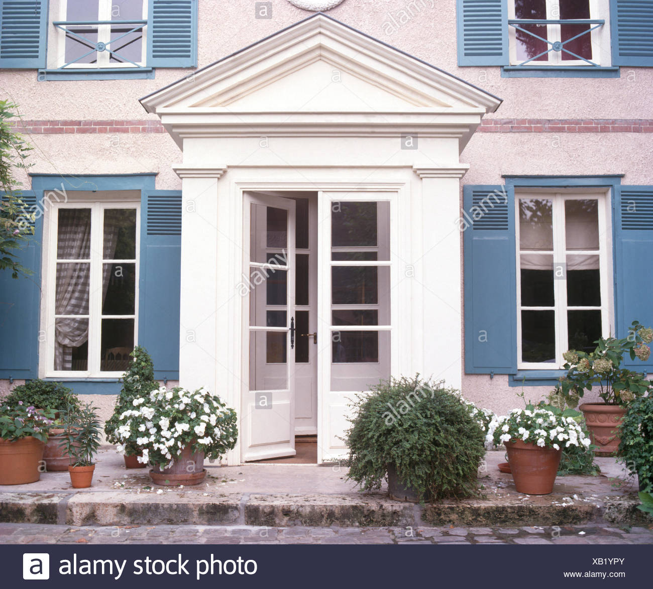 Glazed doors and windows stock photos glazed doors and for French doors with windows either side