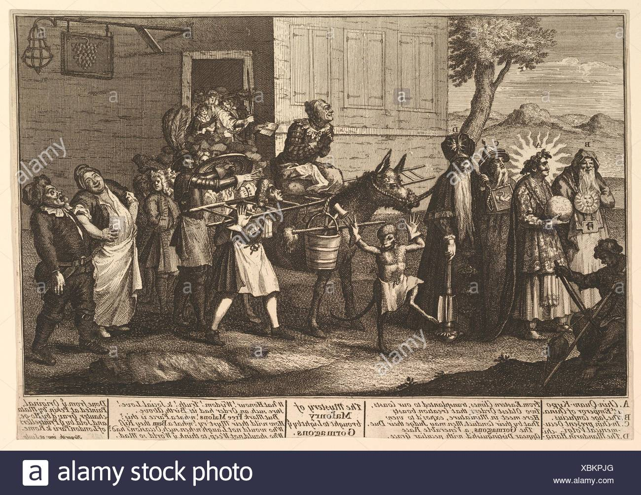The Mystery of Masonry Brought to Light by the Gormagons. Artist: William  Hogarth (British, London 1697-1764 London); Publisher: Robert Sayer