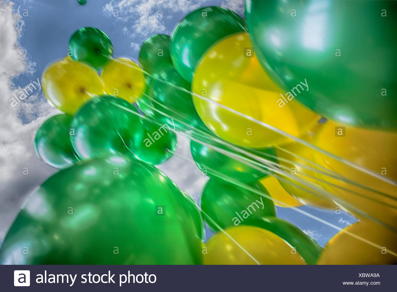 bunch of balloons helium stock photo 282684006 alamy