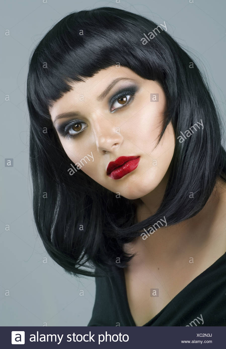 Brunette Extreme Makeuphaircut Stock Photo 282802230 Alamy