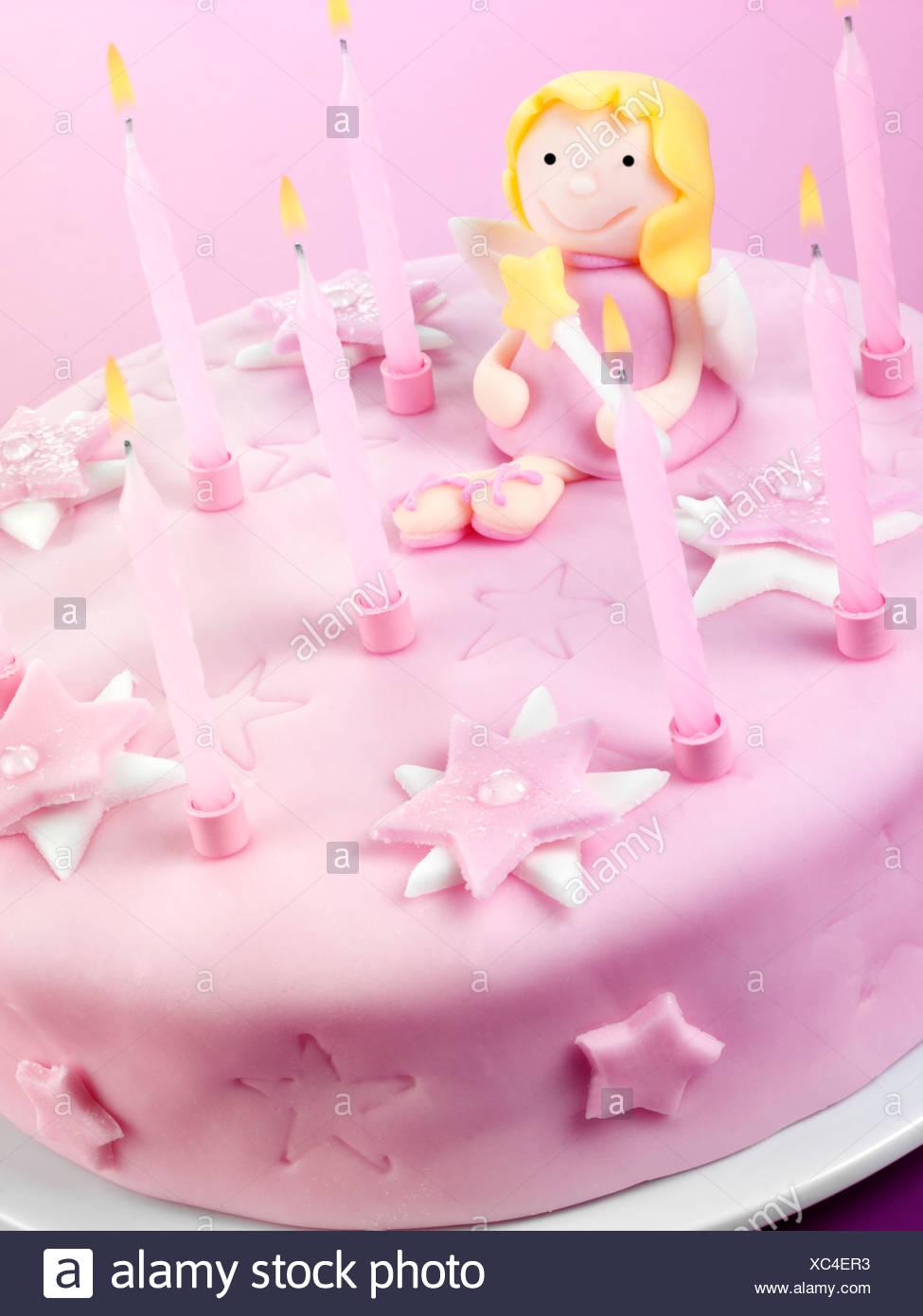 Pink Fairy Birthday Cake Stock Photo 282841191 Alamy