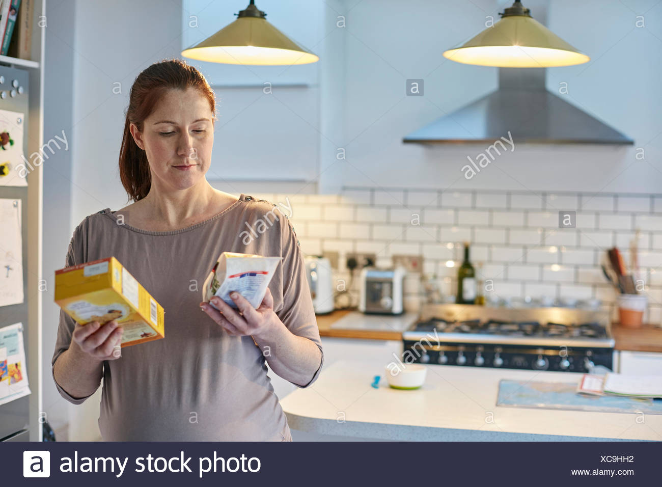 woman with a toaster