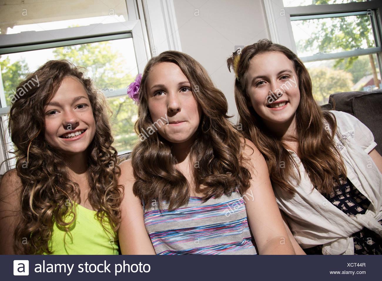 Three Girls On Camera
