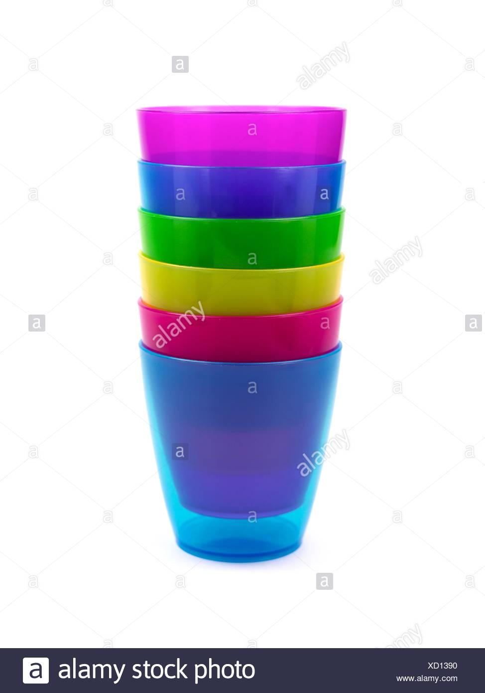 plastic drinking cups stock photo 283380972 alamy