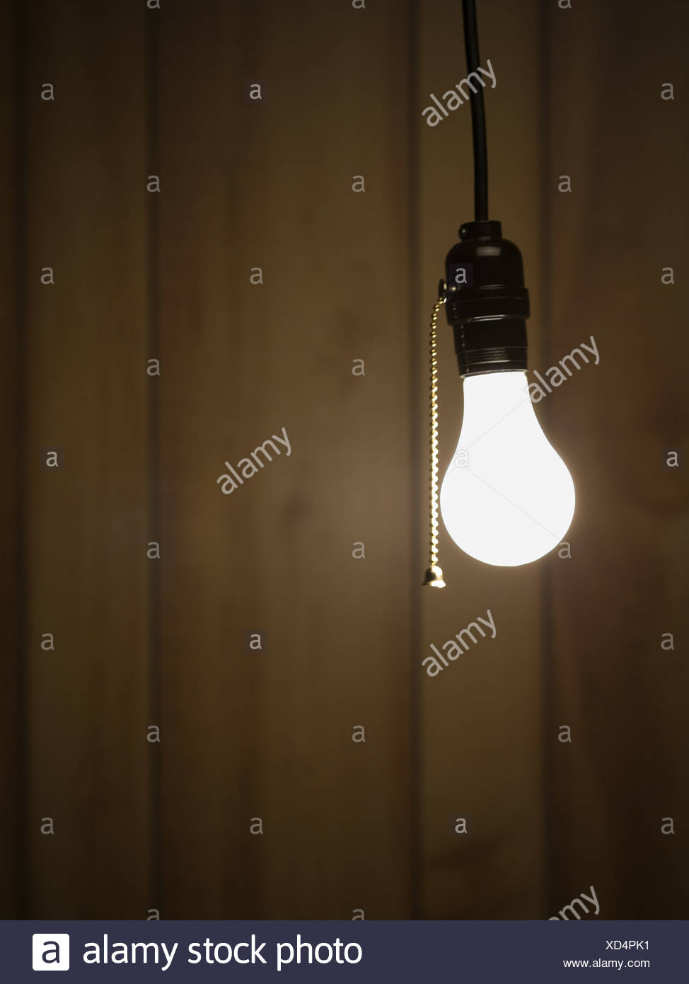 Lightbulb hanging from ceiling stock photo 283462005 alamy lightbulb hanging from ceiling aloadofball Image collections