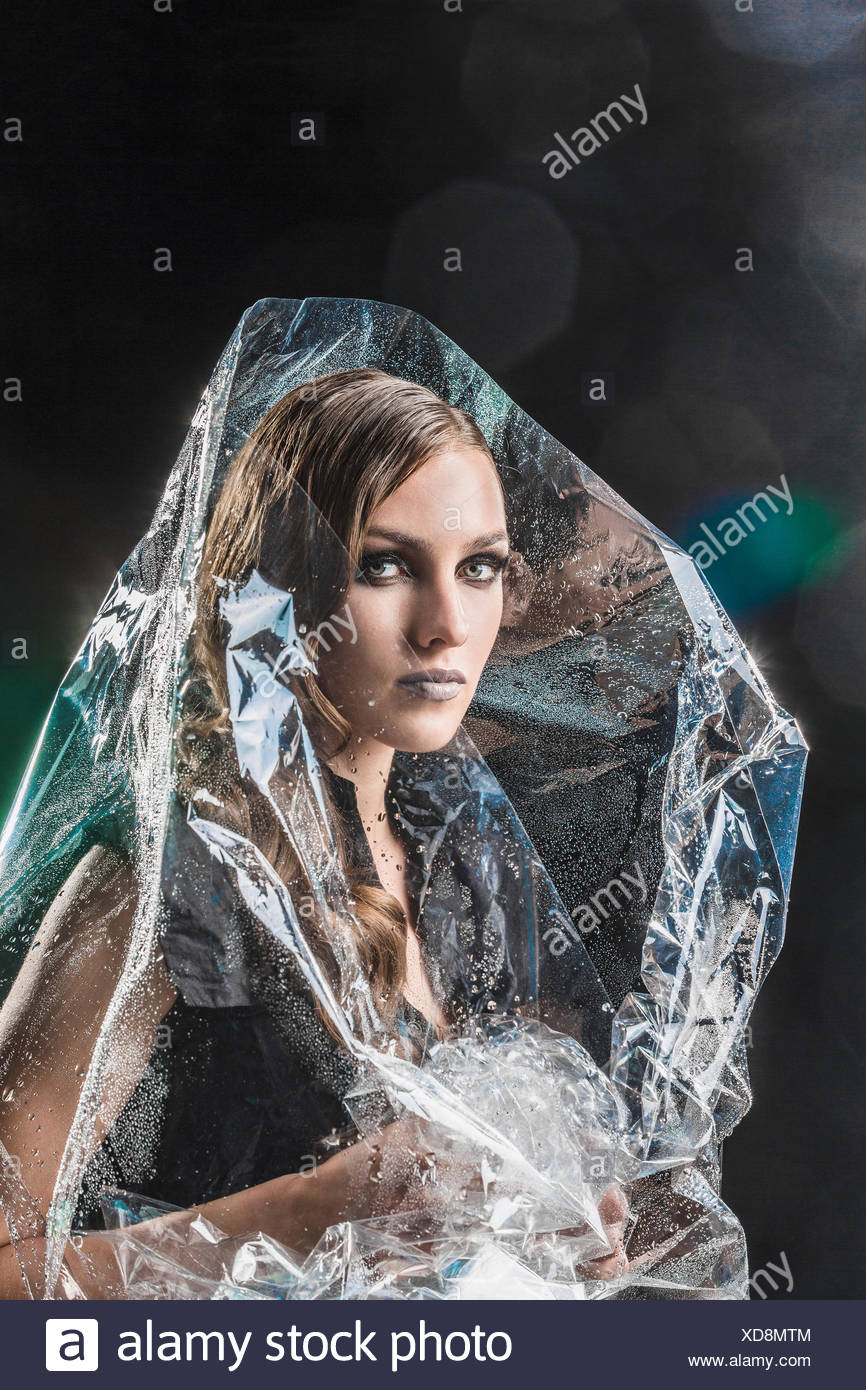 Girl Wrapped In Plastic