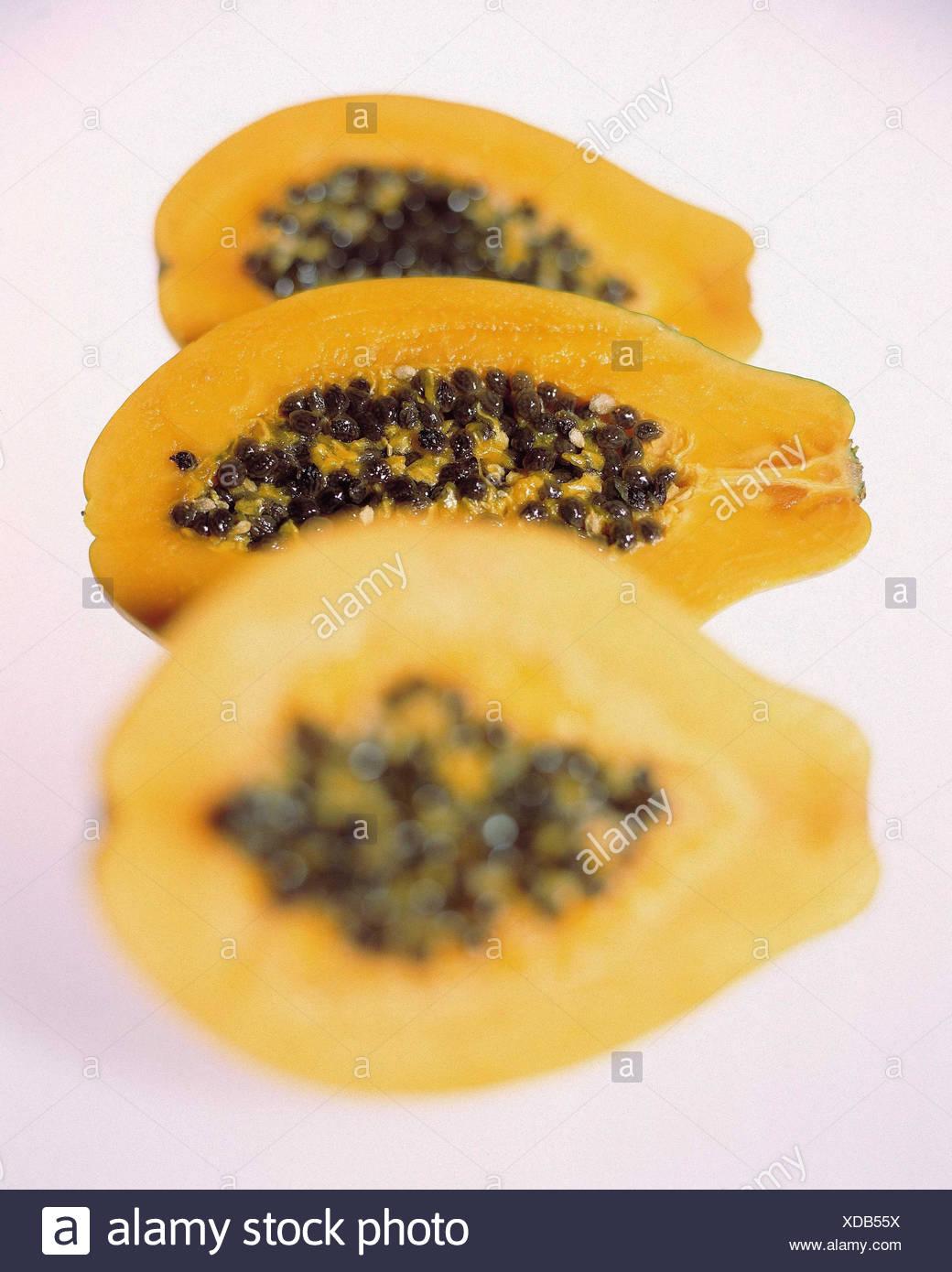 Papayas Divides Still Life Food Eat Fruit Fruits Berries