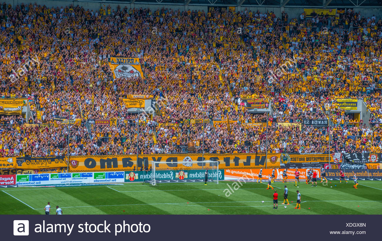 National League Bundesliga Germany Dresden Dynamo Dresden Europe Fans Football Stadium Glucksgas Stadium Saxon Stadium