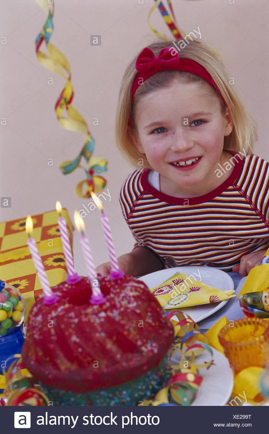 Childrens Birthday Party Girl Half Portrait Birthday Cake