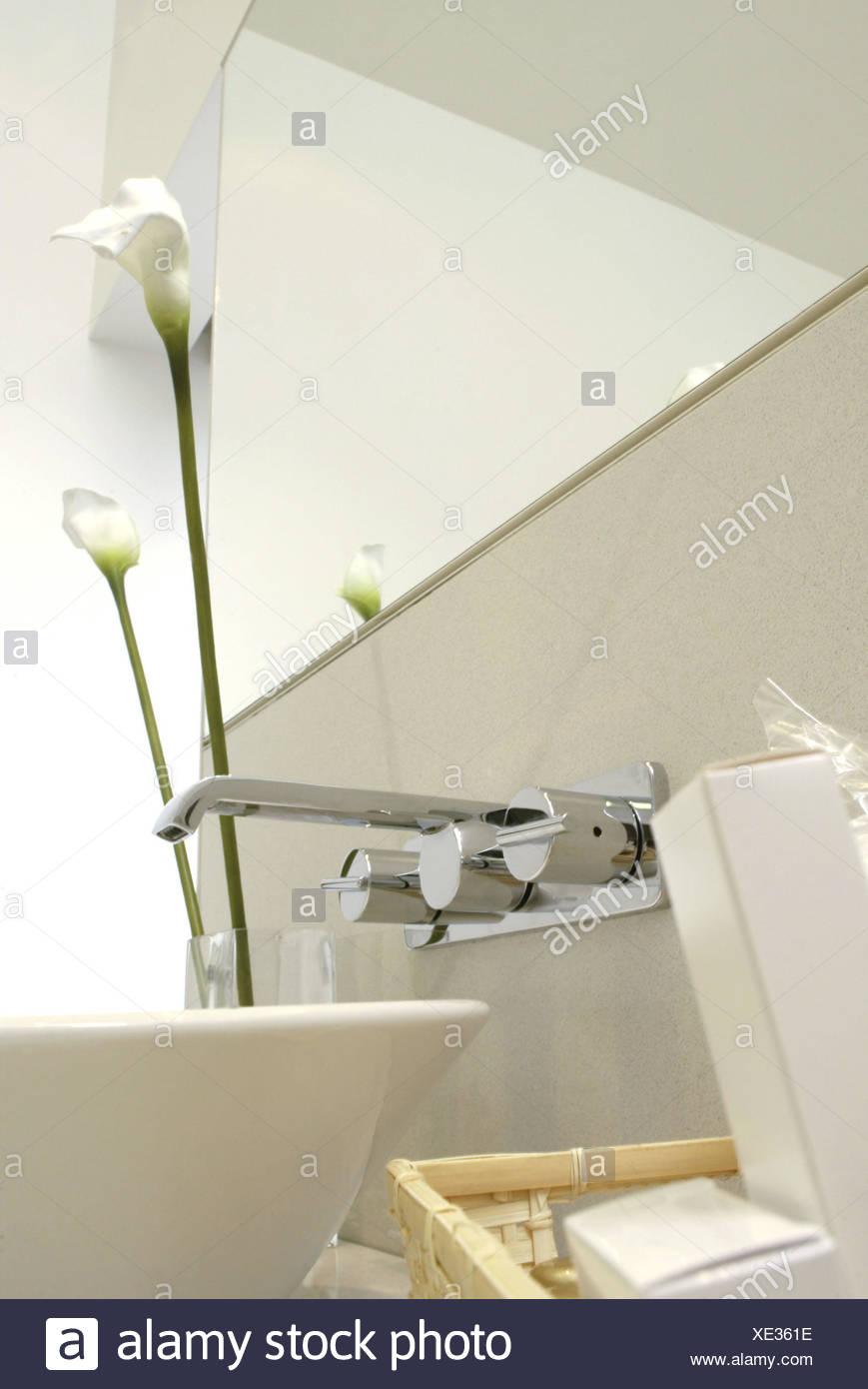 Bathrooms, washstand, sink, armature, decoration, curled bath ...