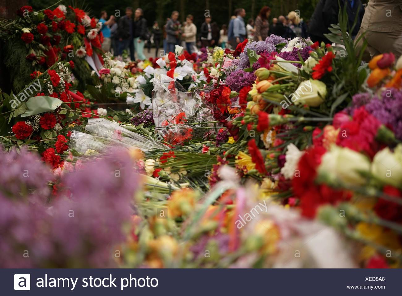 Flower Bouquets For Anniversary Celebration Stock Photo: 284263008 ...