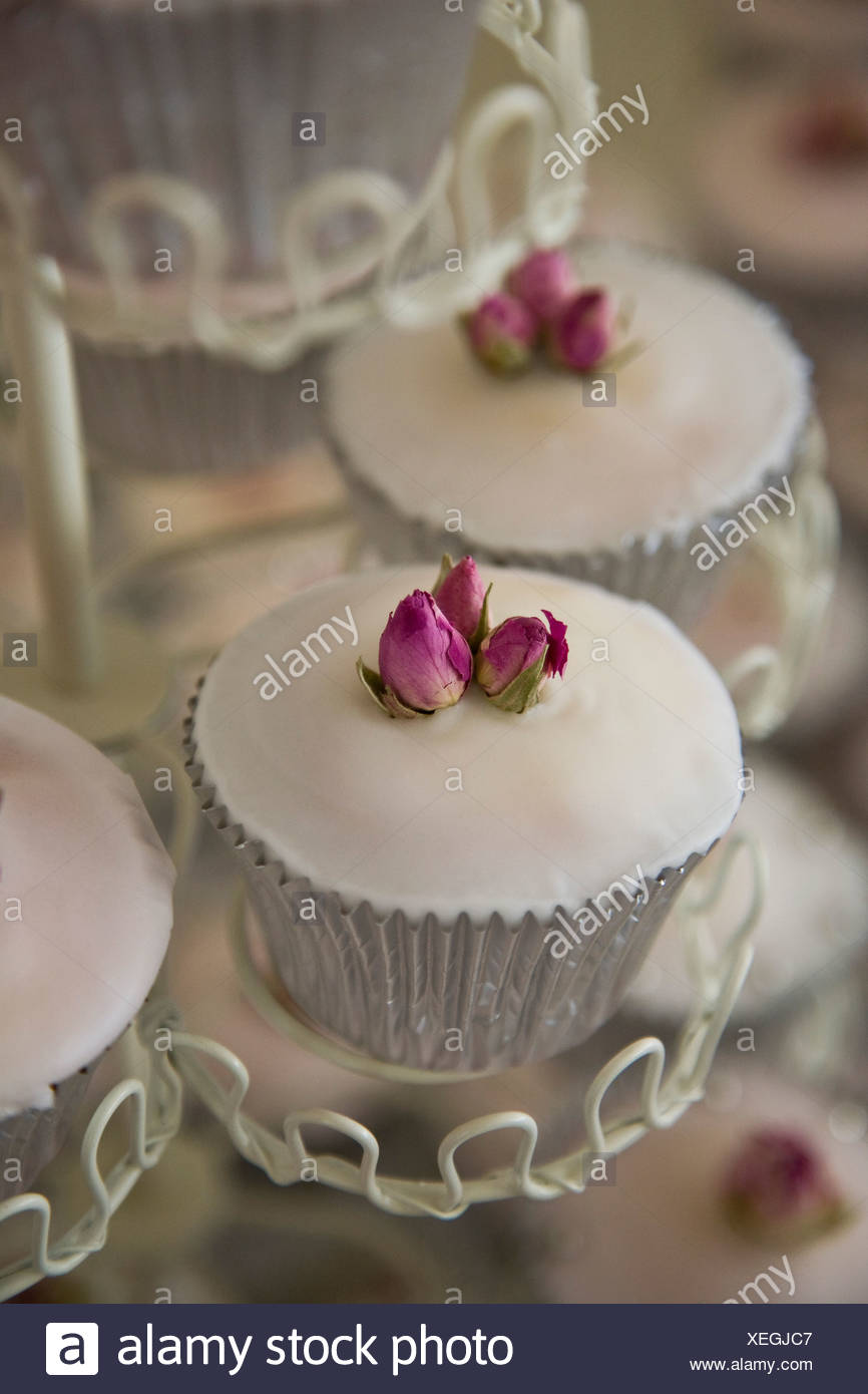 Detail Of Cupcakes On A Stand Stock Photo 284336759 Alamy