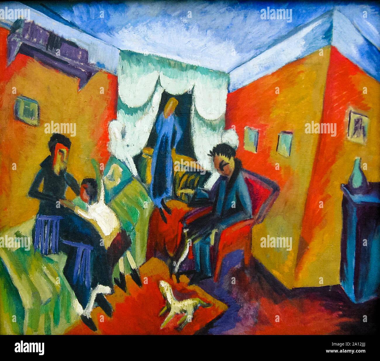 Ernst Ludwig Kirchner, Interieur, (Inneres), Malerei, 1915 Stockfoto