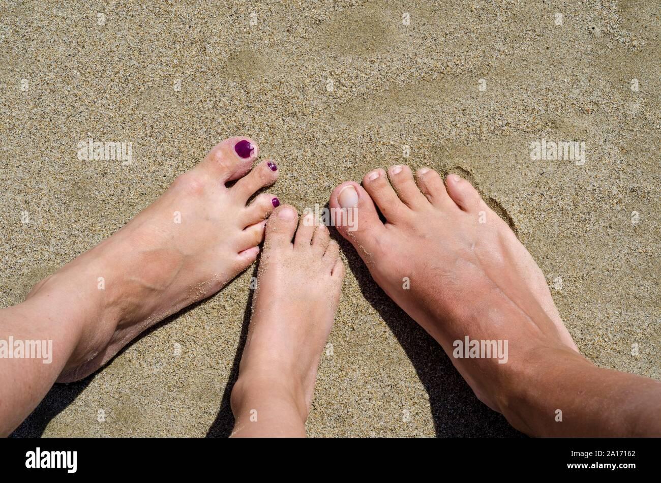 Familie nackt strand