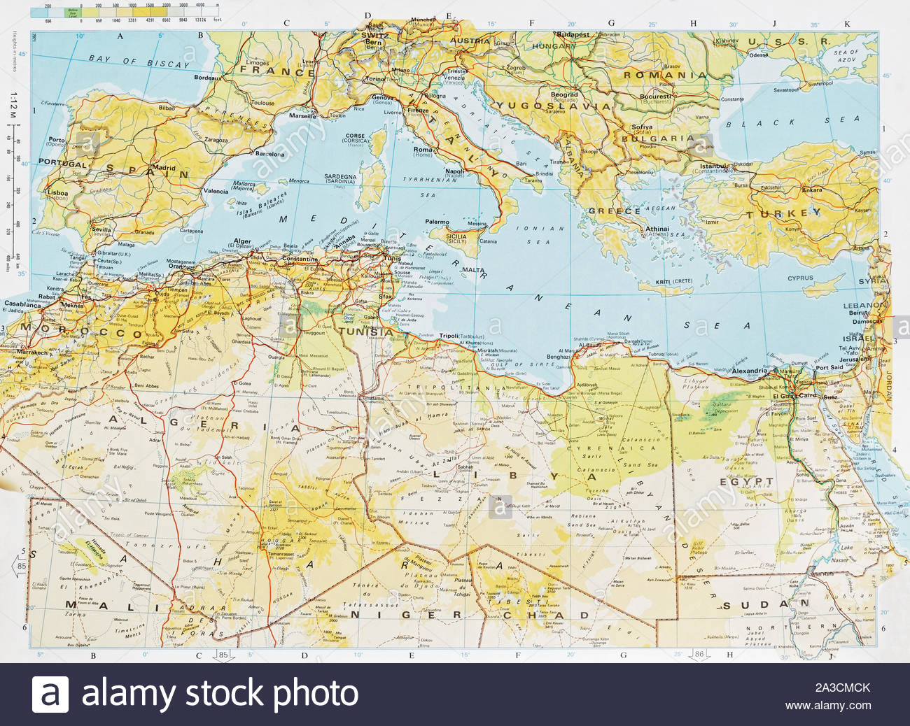 Mediterranean Region Map Stockfotos & Mediterranean Region ...