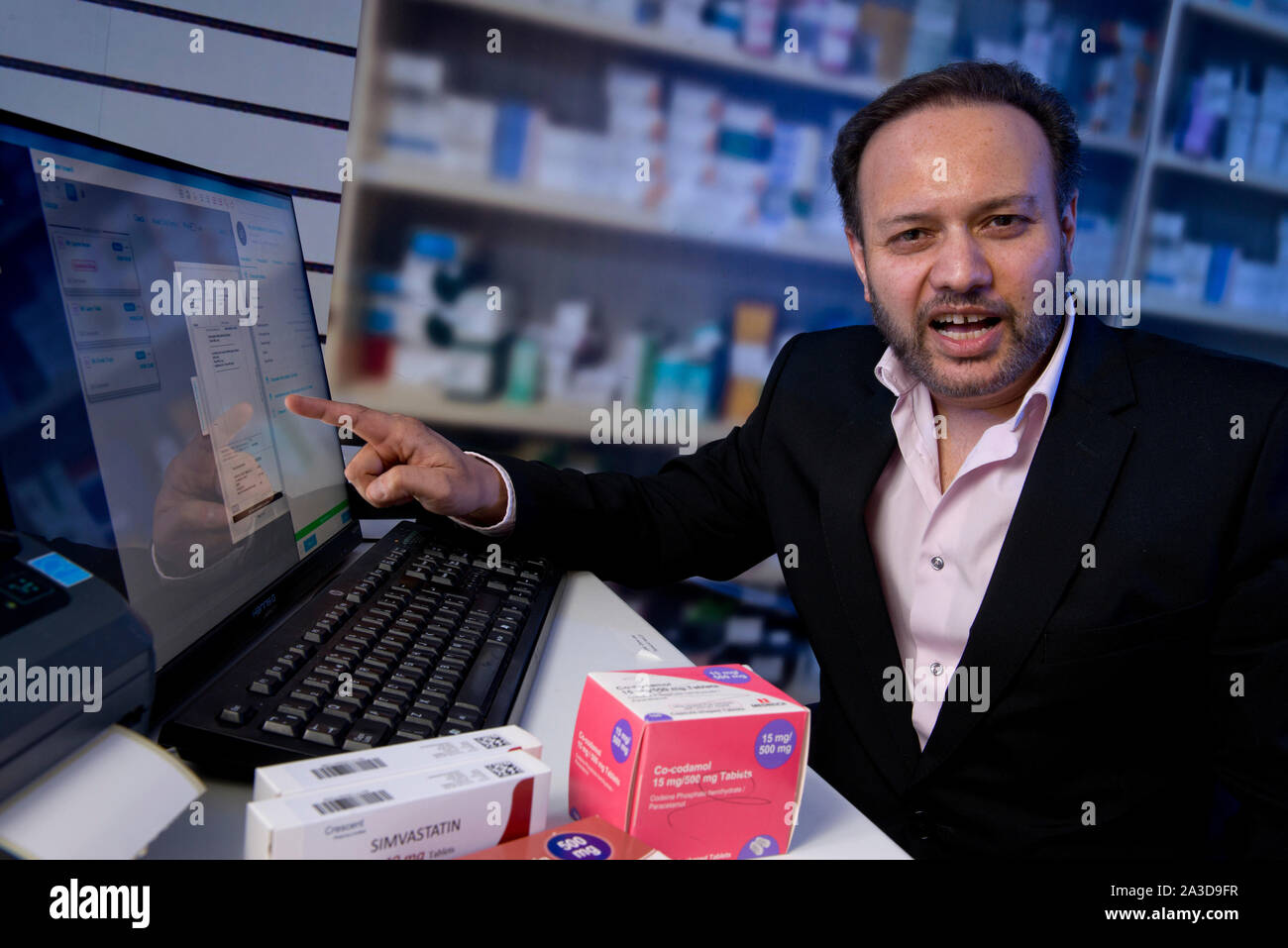 Tariq Muhammed CEO von Invatech Gesundheit, Bristol, Großbritannien Stockfoto