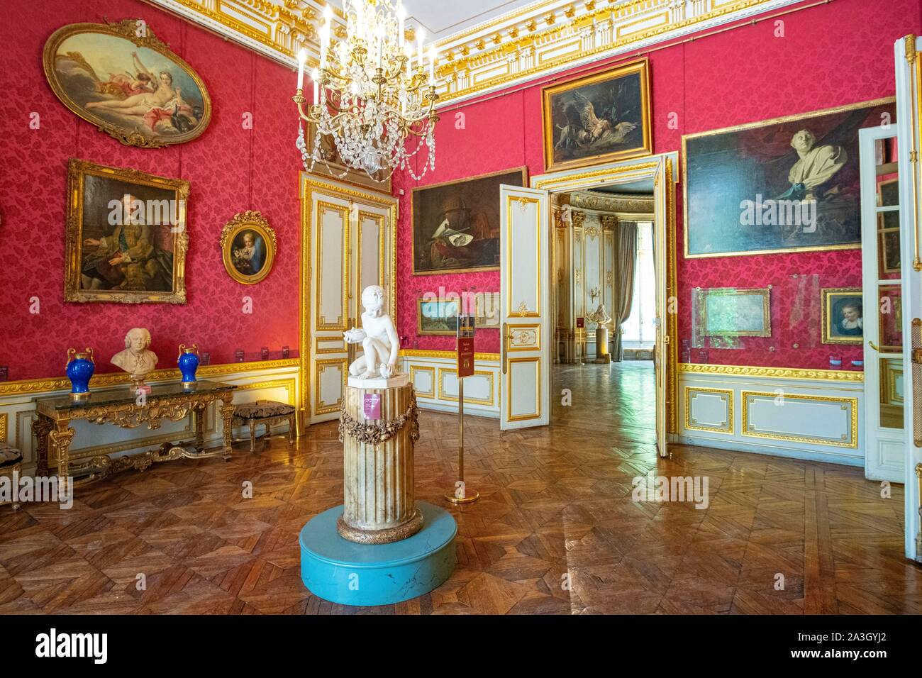 Frankreich, Paris, die Jacquemart Andre Museum, dem Salon des Peintures Stockfoto