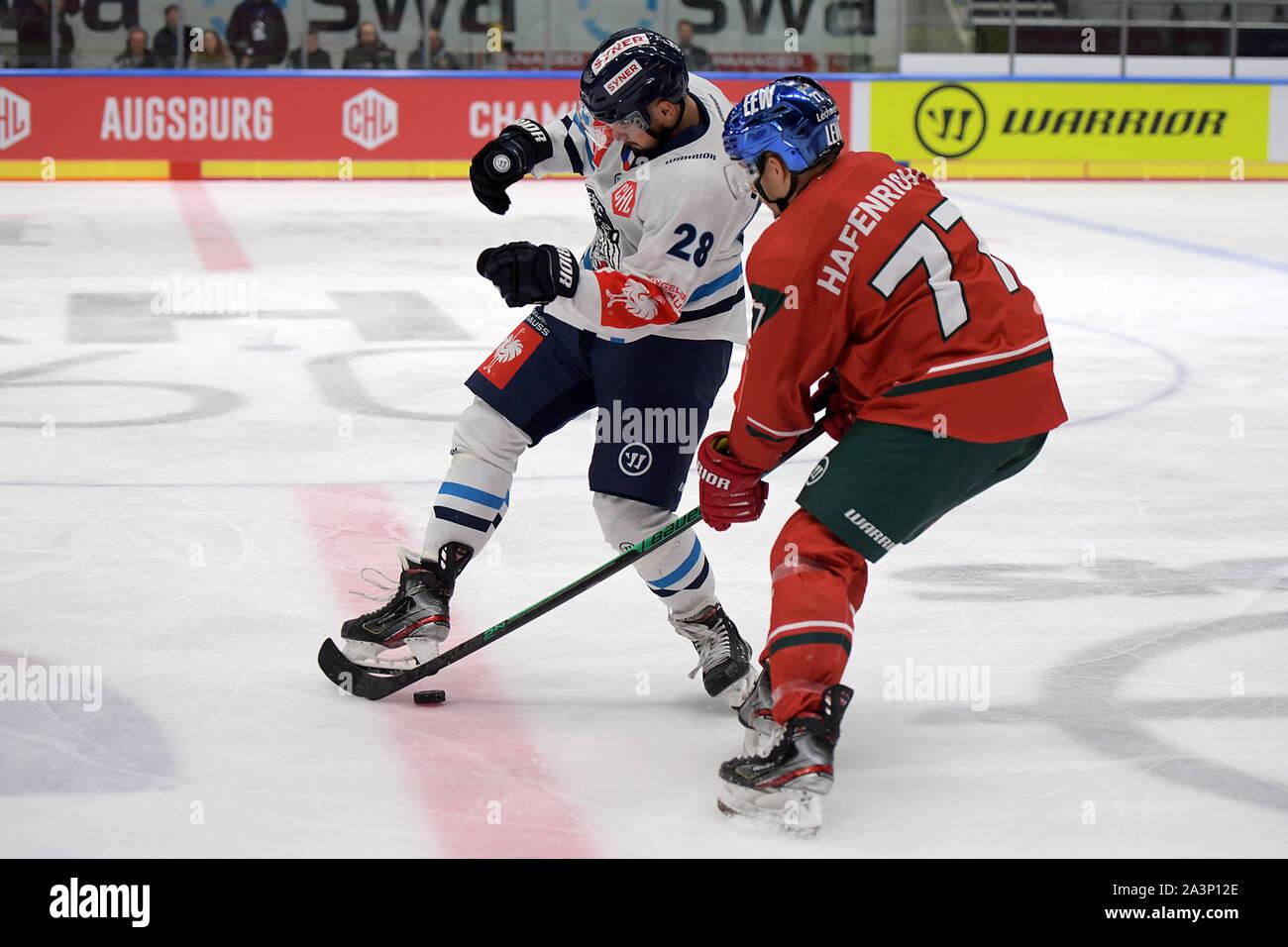 08.10.2019, xemx, Eishockey Champions Hockey League, Augsburger Panther - Bili Tygri Liberec emspor, v.l. Rostislav Marosz (Bili Tygri Liberec # 28) u Stockfoto