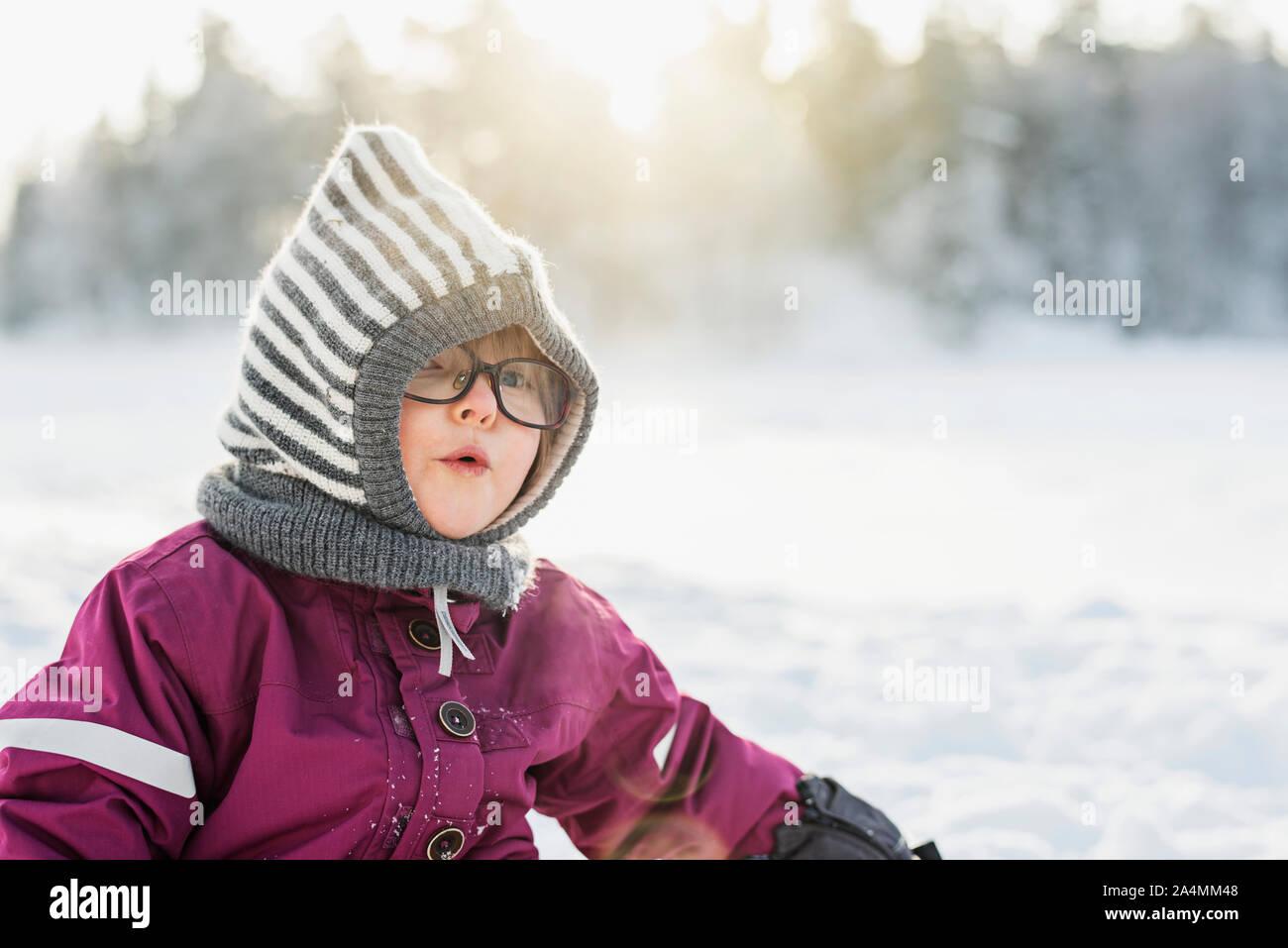 Mädchen im winter Stockfoto