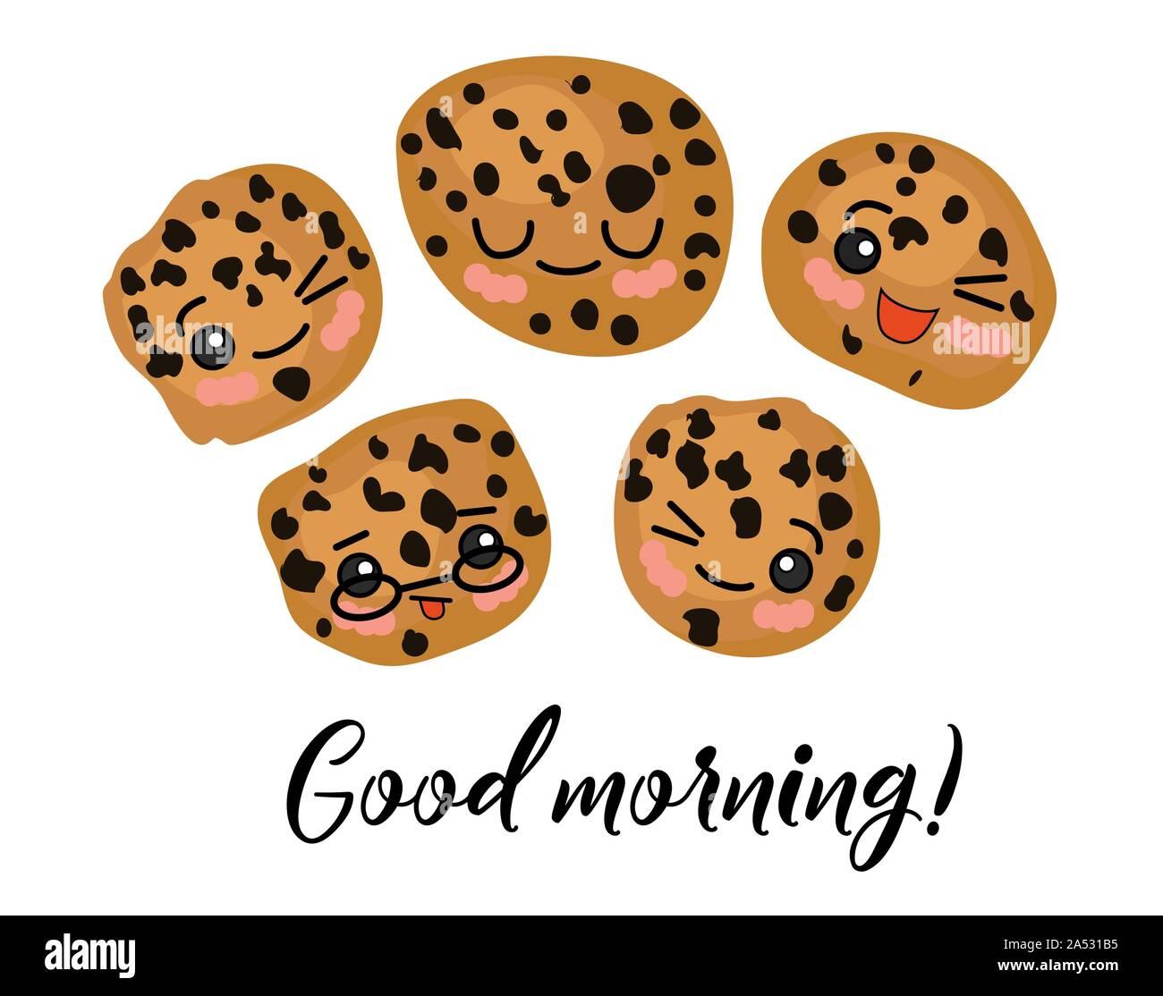 Guten Morgen Morgen Postkarte Haferflocken Mit Rosinen