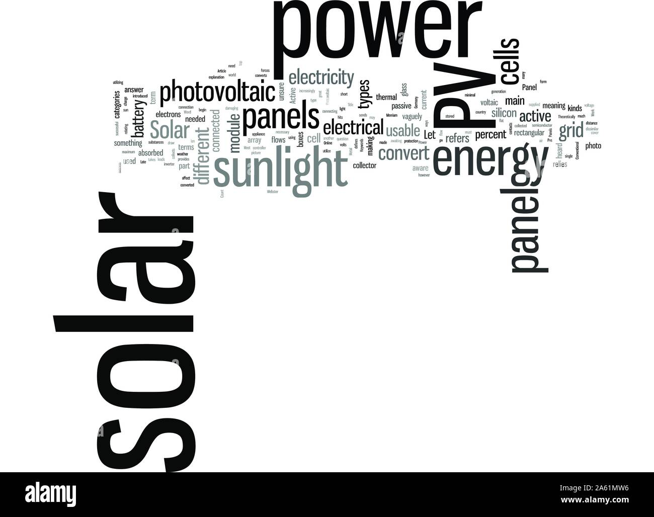 Solar Panels Pvs bei der Arbeit Stock Vektor