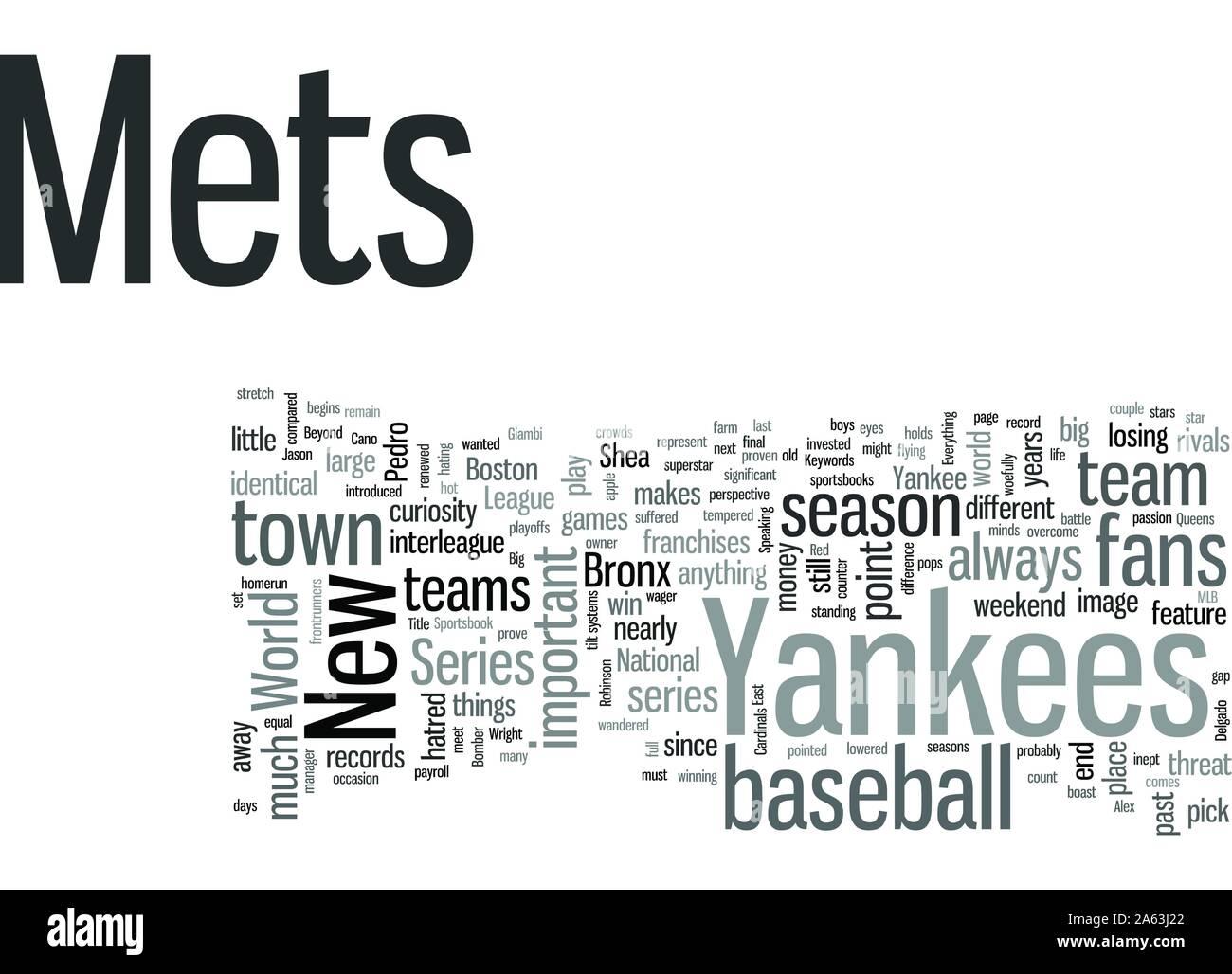 Mets Yankees Spalte Stock Vektor