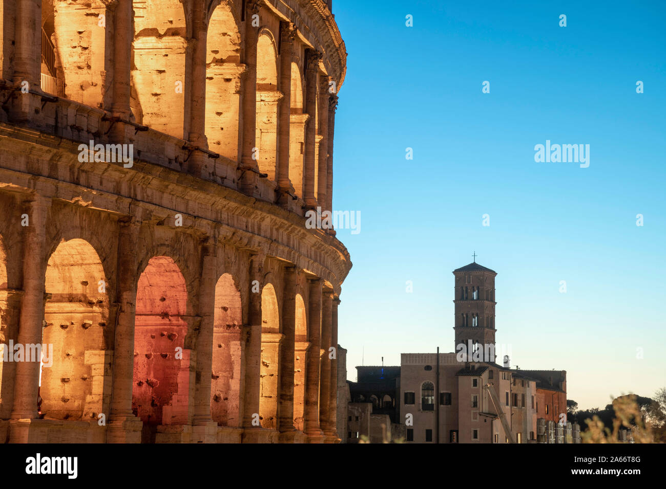 Italien, Latium, Rom, Kolosseum Stockfoto