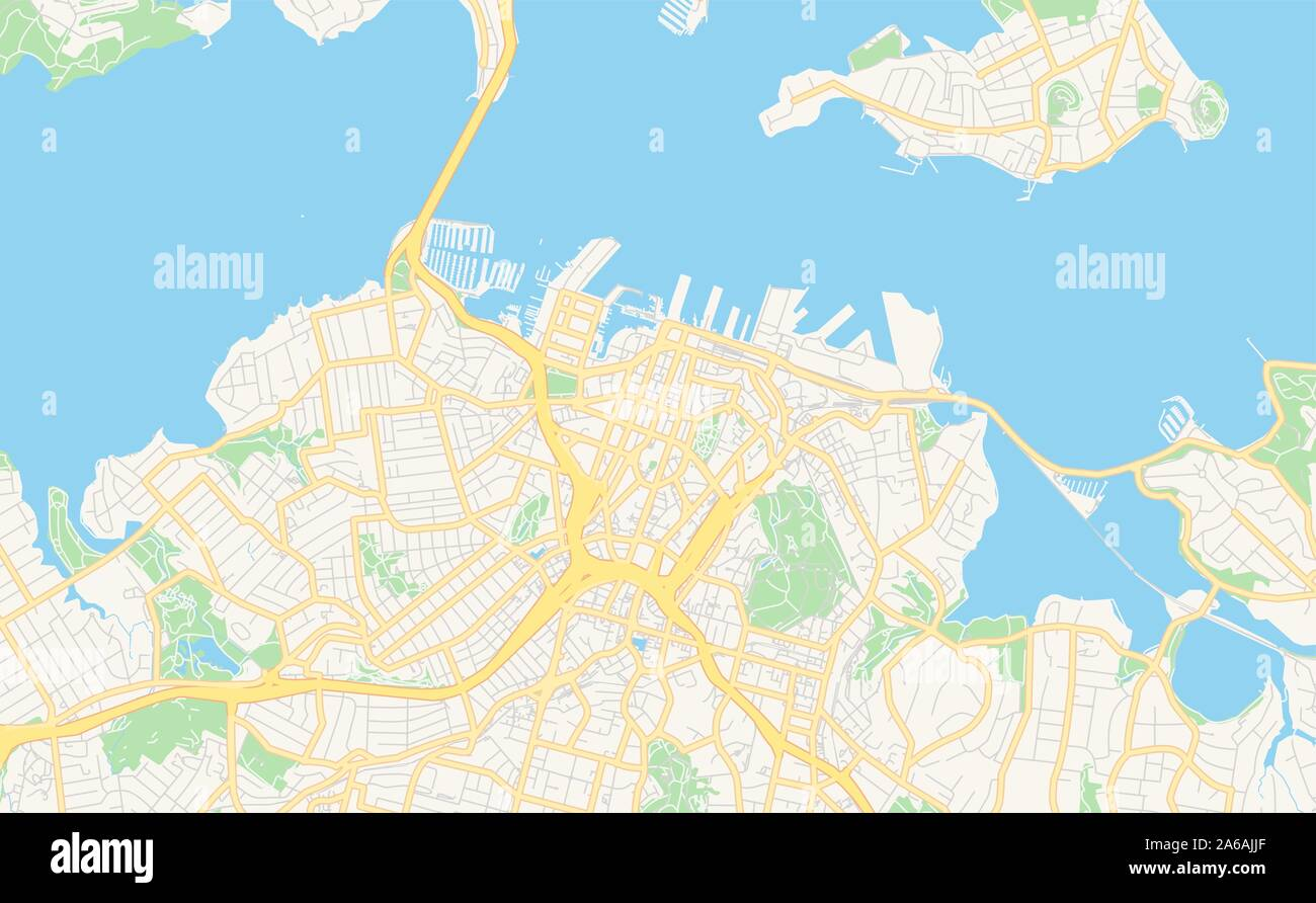 Map Of Auckland New Zealand Stockfotos & Map Of Auckland New ...