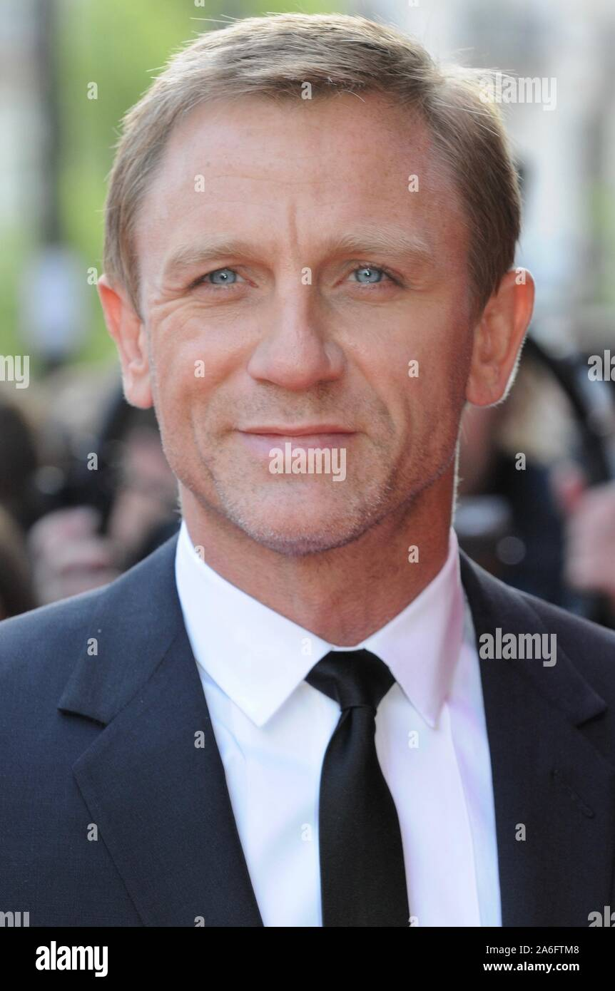 "Daniel Craig. Premiere von ""Flash Back ein Narr', Empire Leicester Square, London. Großbritannien Stockfoto"