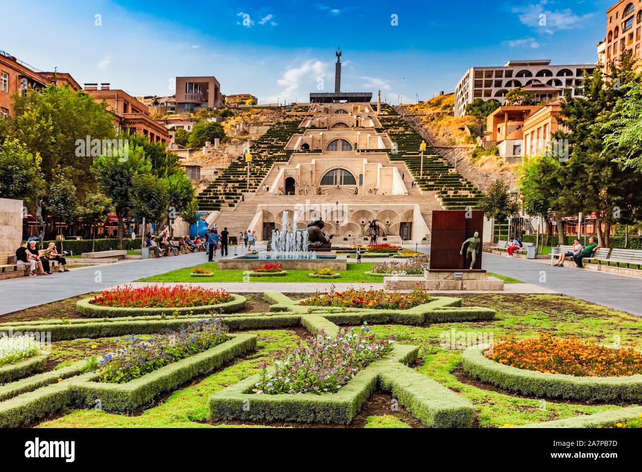 Yerevan Armenien August 16 2019 Cascade Komplexe Monument Wahrzeichen Von Eriwan Hauptstadt Von Armenien Stockfotografie Alamy