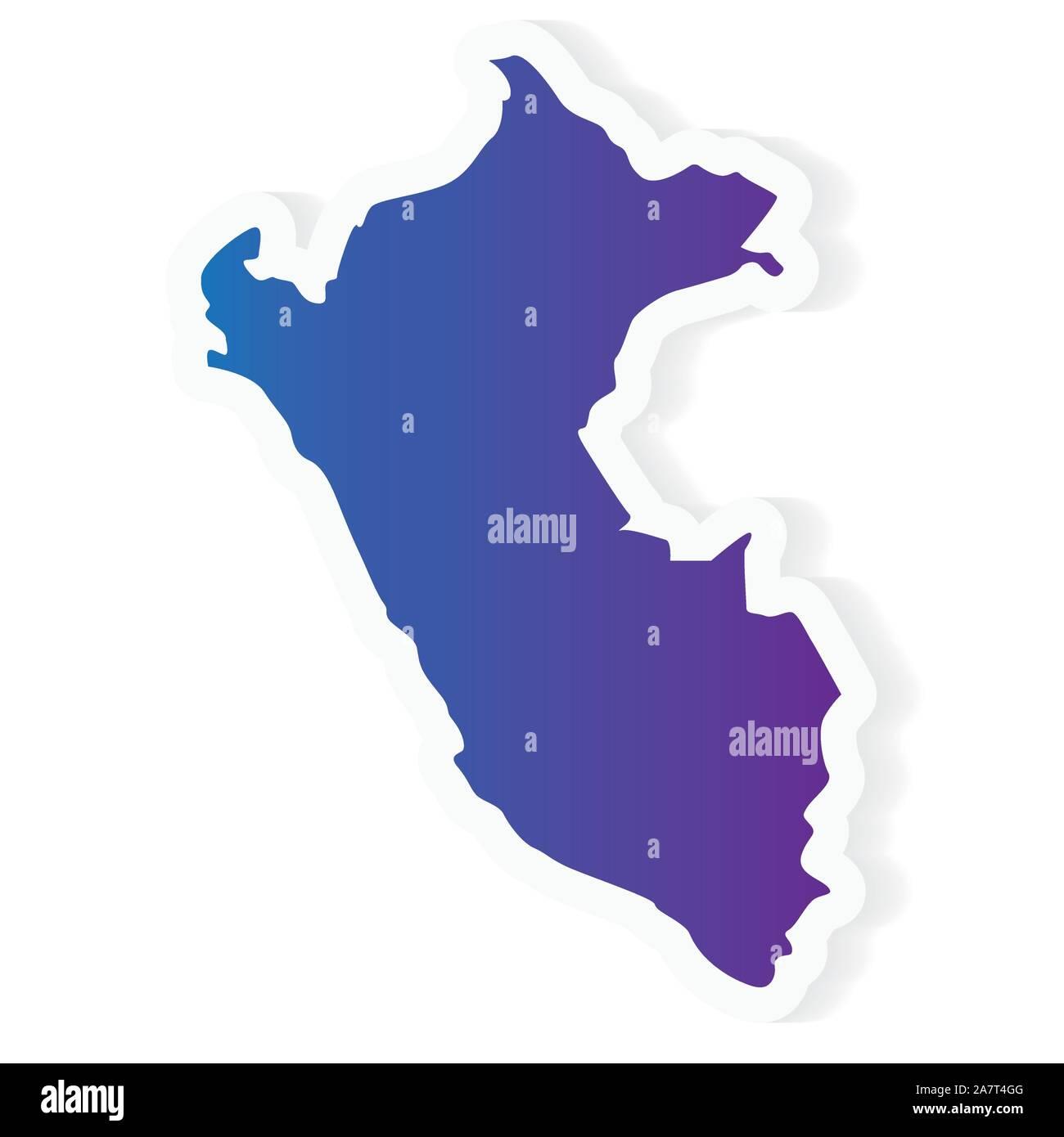 Peru Map Vector Stockfotos & Peru Map Vector Bilder - Alamy