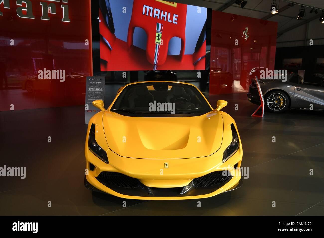 Mugello 25 Oktober 2019 Ferrari F8 Spyder Auf Dem Display Während Finali Mondiali Ferrari 2019 In Mugello In Italien Stockfotografie Alamy