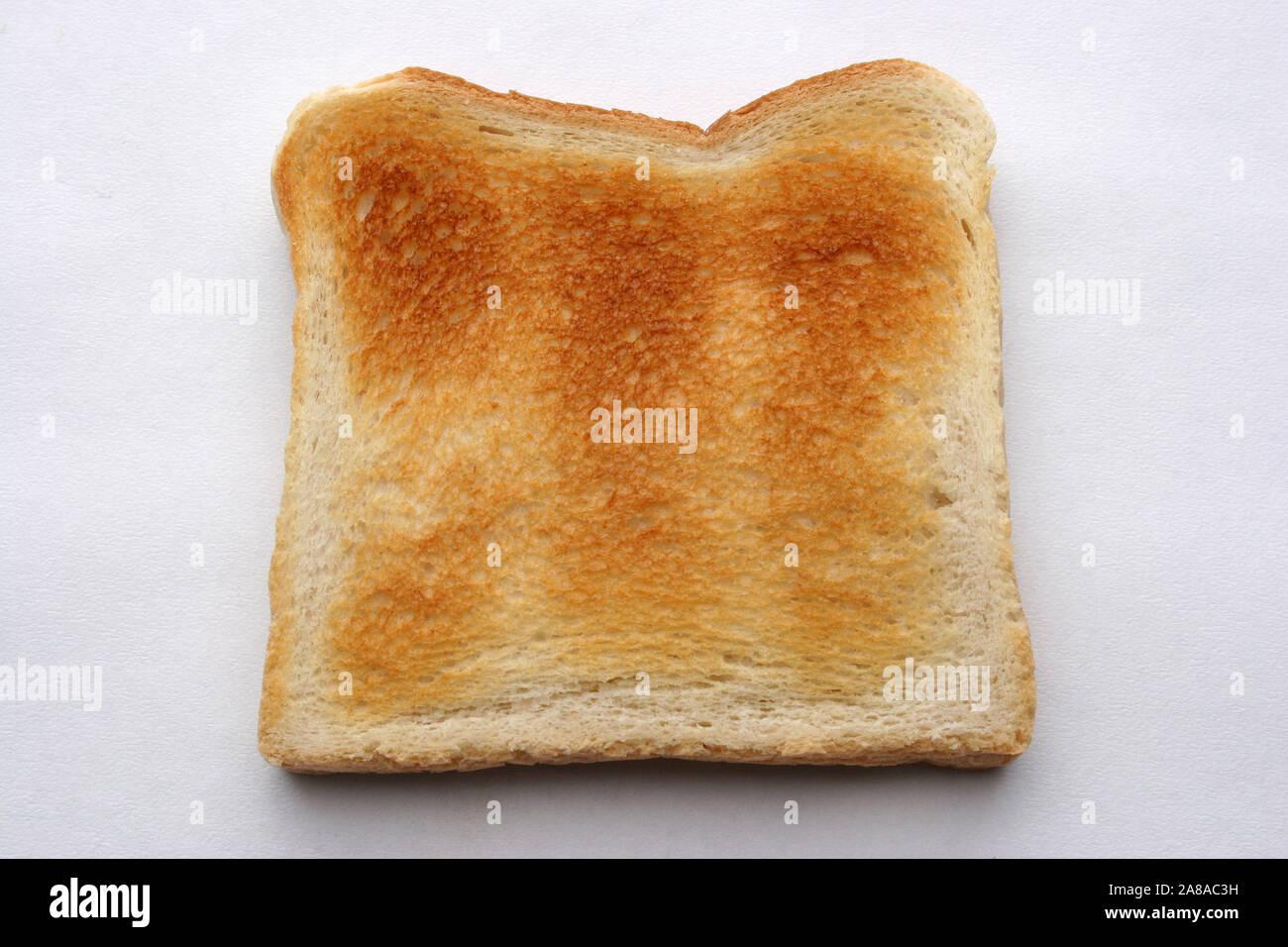 Toast, Scheibe Weissbrot, Toast, Toastbrot, getoastet, Lebensmittel, Stockfoto