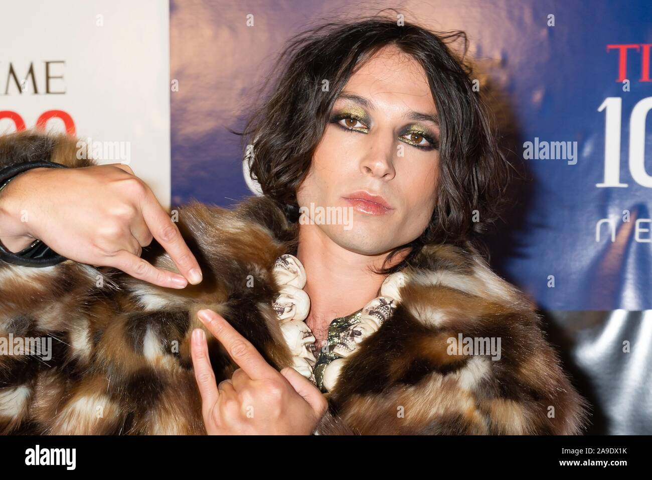 New York, NY, USA. 14 Nov, 2019. Ezra Miller bei der Ankunft für den ersten jährlichen ZEIT 100 Nächste Liste, Pier 17, New York, NY 14. November 2019. Credit: Jason Smith/Everett Collection/Alamy leben Nachrichten Stockfoto