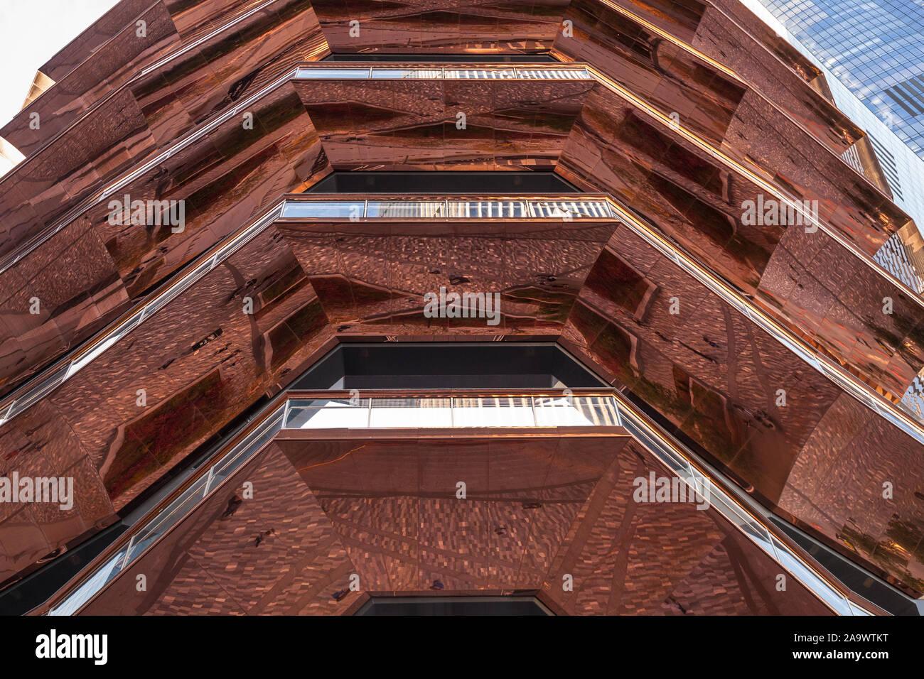 Das Schiff, ein Wahrzeichen Thomas Heatherwick Studio entwickelte Struktur im Hudson Yards Entwicklung, New York City, NY, USA Stockfoto