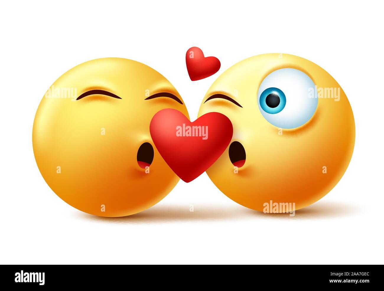 Herz smiley zeichen kuss Kussmund emoji